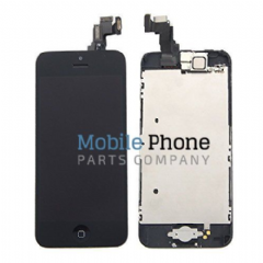 Apple iPhone 5S LCD + Digitiser Black Complete With Parts - Front Camera / Earpiece